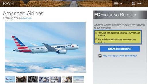 10% off transatlantic fares is a new benny!