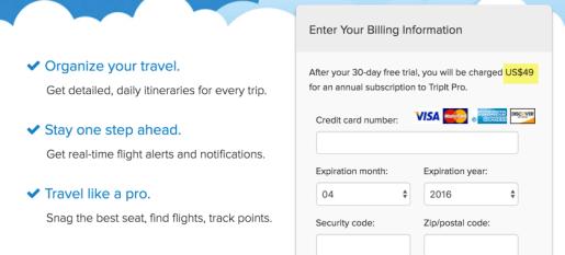 Free TripIt Pro saves $49