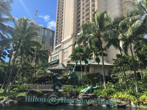Entrance to the Hilton Hawaiian Village in Honolulu