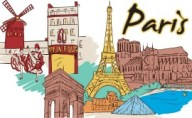paris graphic stock