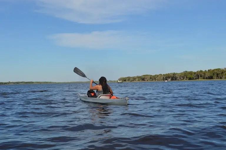 black girl kayaking