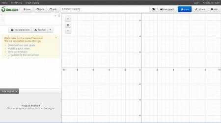 Desmos une calculatrice scientifique en ligne les for Calculette en ligne gratuite