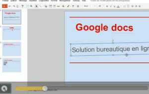 Google docs présentation