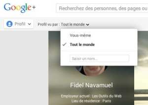 Profil Google Plus