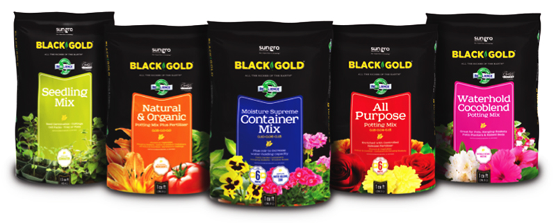 Industry Applauds New Black Gold Packaging from Sun Gro Horticulture