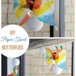 Paper Towel Butterflies!
