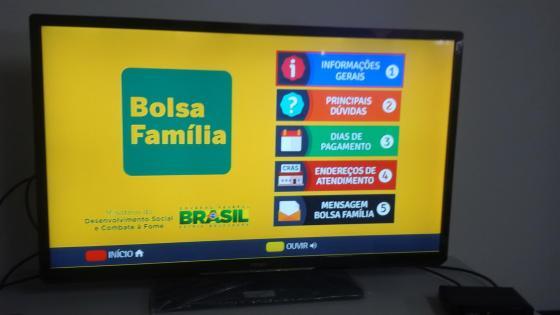 Aplicação do Bolsa Família, onde usuários podem