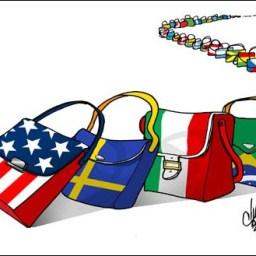 O crescimento global em queda e suas complicações