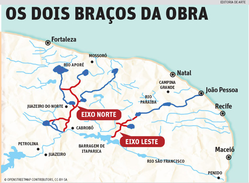 Graças a Lula e Dilma, as águas começam a rolar no sertão