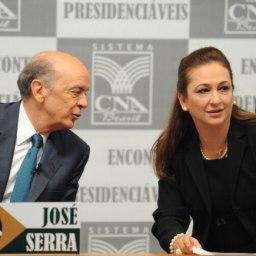 Deu na Folha: Kátia Abreu joga vinho na cara de Serra