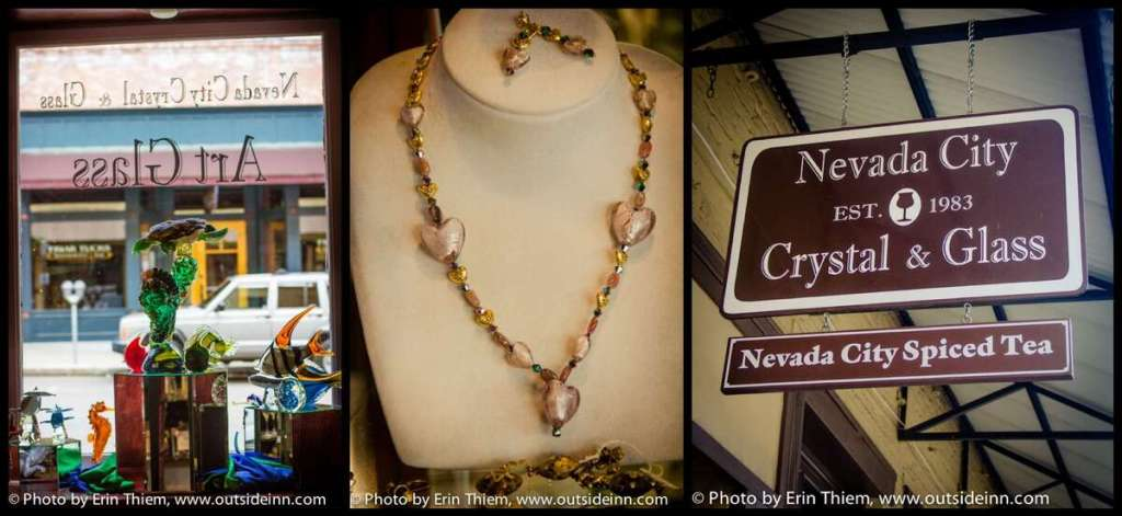Nevada City Shopping, Crystal & Glass shop