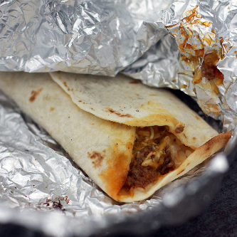 CAMPING RECIPES 1: Burrito wrapped in tin foil on campfire!