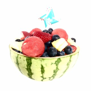 watermelon, pineapple, berries, fruit, fruit salad
