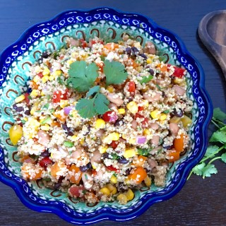 quinoa, bell peppers, corn, salad, recipe