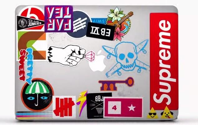 apple macbook air「stickers」电视广告