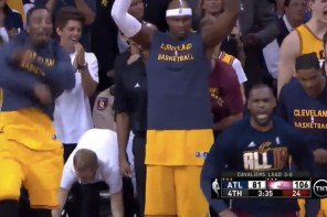 2015 NBA 季後賽東區決賽 G4:一個讓整個騎士隊瘋狂的進球