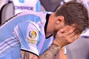 爭冠再失利.阿根廷足球巨星 Lionel Messi 宣布從國家隊中退休