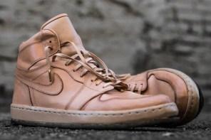 男人該有的行頭之一,Air Jordan 1 全皮革客製化版本