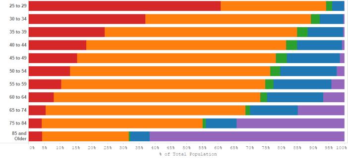 Marital Status Breakout by Age Range