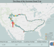 The Map of My Summer Road Trip