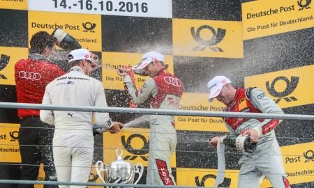 Motorsports: DTM race Hockenheim, Saison 2016 - 9. Event Hockenheimring, GER, #17 Miguel Molina (ESP, Audi Sport Team Abt Sportsline, Audi RS5 DTM), #11 Marco Wittmann (GER, BMW Team RMG, BMW M4 DTM)  , #48 Edoardo Mortara (ITA, Audi Sport Team Abt Sportsline, Audi RS5 DTM)