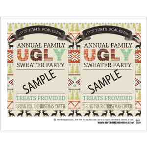 Sturdy Family Ugly Sweater Party Free Printable Annual Family Ugly Sweater Party Over Big Moon Ugly Sweater Party Alt Az Ugly Sweater Party Names