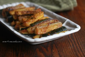 Spicy Baked Zucchini Sticks