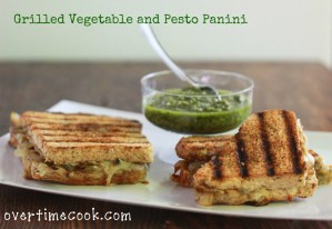 Grilled Vegetable and Pesto Panini