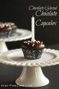 Chocolate Glazed Chocolate Cupcakes