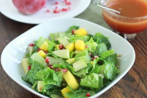 Pomegranate and Apple Salad with Pomegranate Vinaigrette