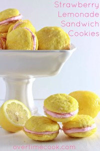 strawberry lemonade sandwich cookies on Overtime Cook