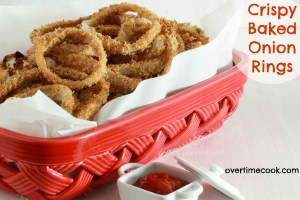 Crispy Baked Onion Rings on Overtime Cook