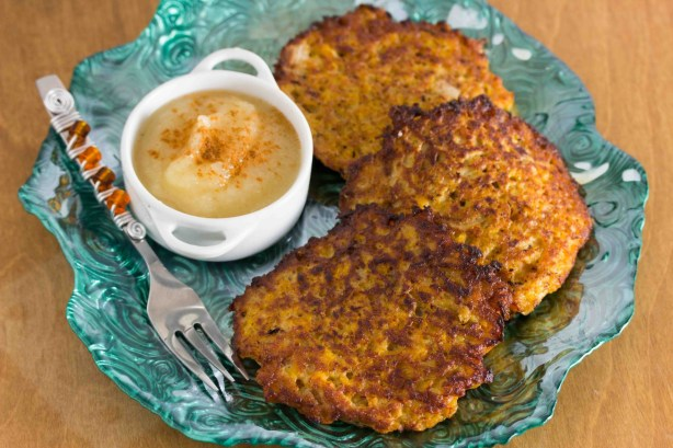 Butternut Squash and Apple Latkes 1