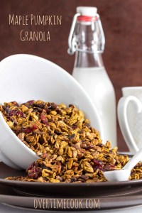 maple pumpkin granola on OvertimeCook