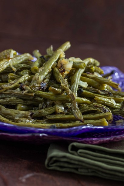 Roasted Onion Garlic Green Beans 2