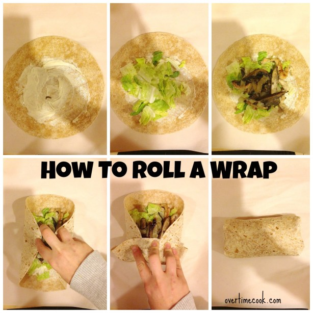 how to roll a wrap on OvertimeCook