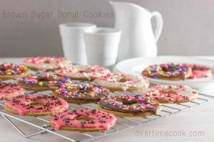 brown sugar donut cookies on overtime cook