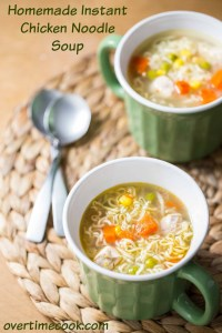 Homemade Instant Chicken Noodle Soup (Guest Post)