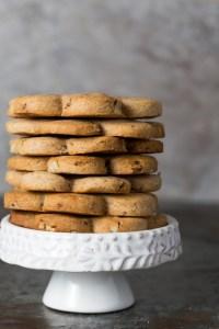 Cranberry Cinnamon and Pecan Shortbread Cookies