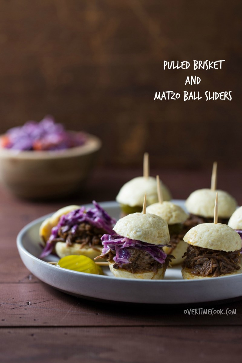 Pulled Brisket and Matzo Ball Sliders