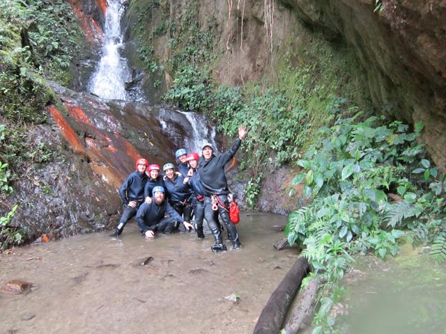 Rappelling in Banos, Ecuador