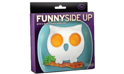 Funny Side Up Owl Egg Mold Novelty Egg Ring