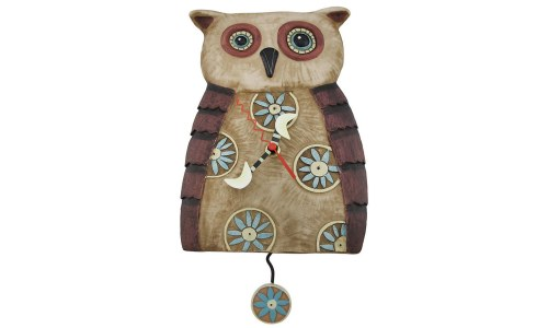 Big Hoot Owl Pendulum Clock
