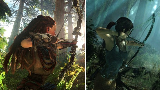 Lara Croft and Aloy