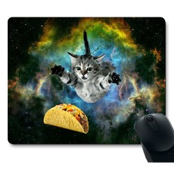 Multipurpose Anything Curious Cat Flying Through Space Reachingfor A Taco Mousepads Office Mouse Pads 2018 Reddit Gaming Ign Mouse Pads