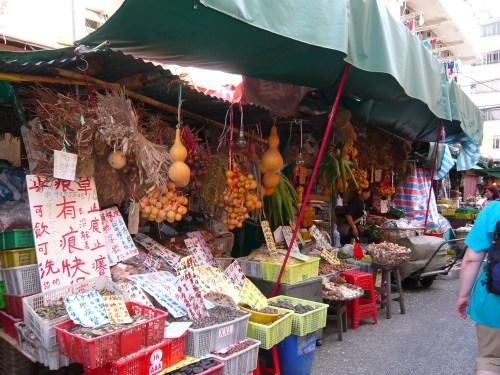 Food  market in Kowloon