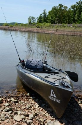 Berry Bend, Harry S Truman Reservoir, Ascend FS 10 kayak ready to go do some fishing