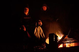 Campfire at Bucksaw, Harry s Truman Lake, Missouri