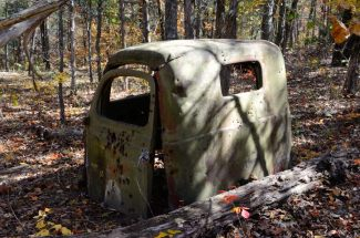 Hercules Glades Wilderness - Abandoned vehicle