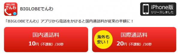 BIGLOBE LTE・3G-BIGLOBEでんわアプリ紹介